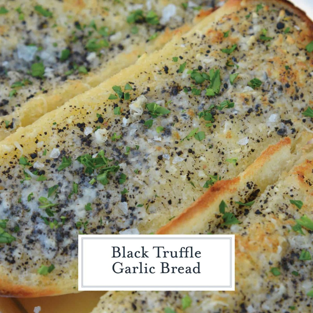 This Truffle Butter Garlic Bread is unlike any homemade garlic bread you've tasted. So delicious and made with just 3 ingredients! #trufflebutter #homemadegarlicbread www.savoryexperiments.com