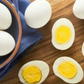 If you have an Instant Pot and haven't tried these Instant Pot Hard Boiled Eggs, you're missing out! Perfect hard boiled eggs every time. Ready in 10 minutes! #Howtohardboileggs #instantpothardboiledeggs www.savoryexperiments.com