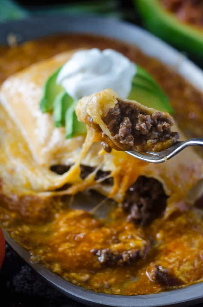 Wet burrito with a bite taken out