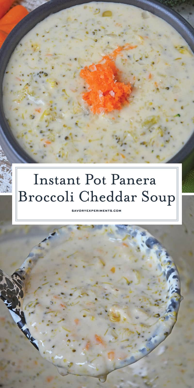 Instant Pot Broccoli Cheddar Soup for Pinterest