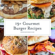 Collage of Gourmet burgers