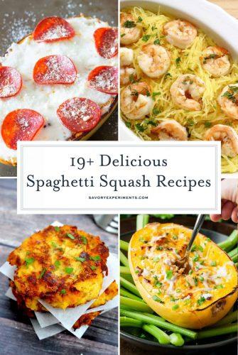 Spaghetti squash collage