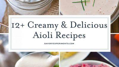 Collage of aioli recipes