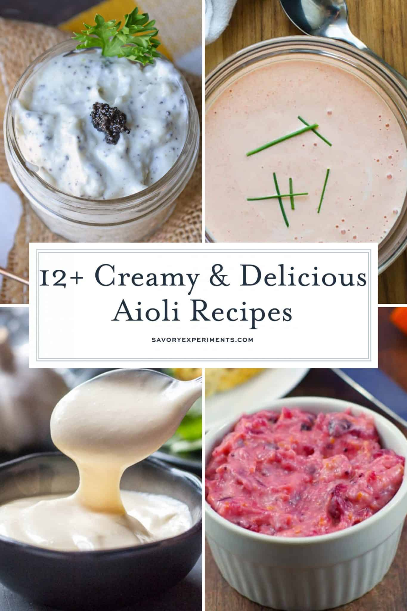 Collage of aioli recipes