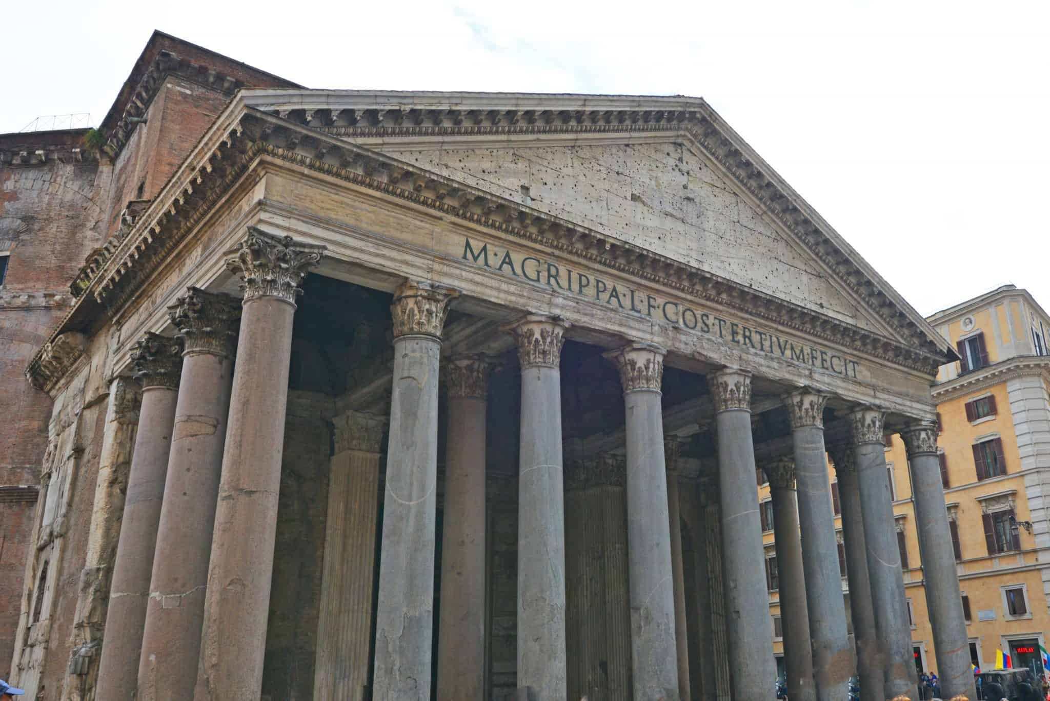 "Pantheon: The ""temple of every God"" was originally a Roman temple, not a church. It was only claimed as a church to save it from destruction."
