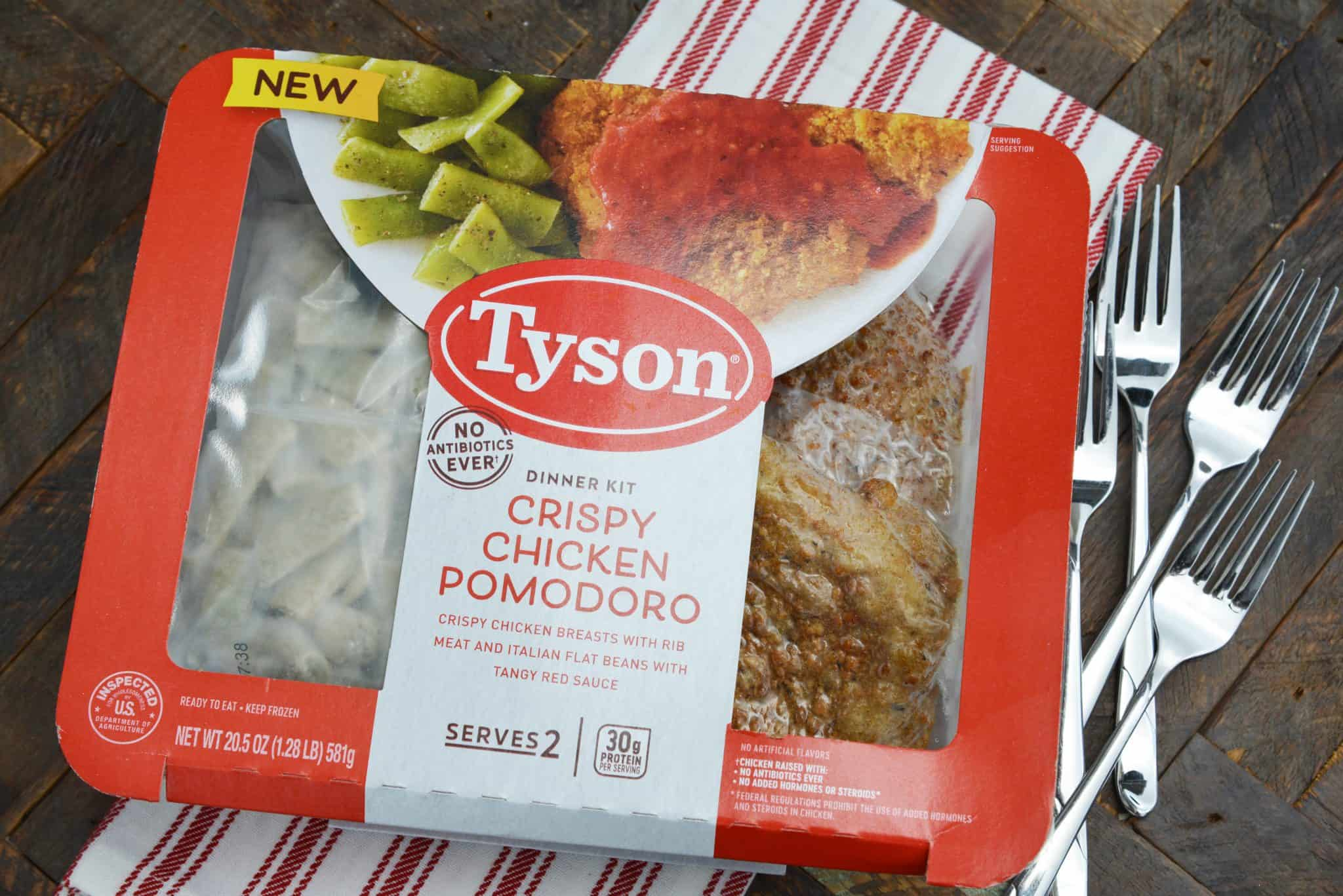Crispy Chicken Pomodoro from Tyson® Fully Cooked Dinner and Entrée Kits