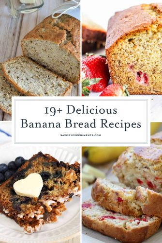 Looking for the perfect recipe to make banana bread? From classic banana bread recipes to unique banana bread ingredients like chocolate chips, this list has it all! So many easy, moist banana bread recipes! #howtomakebananabread #bananaloafrecipe #bananabreadrecipe www.savoryexperiments.com
