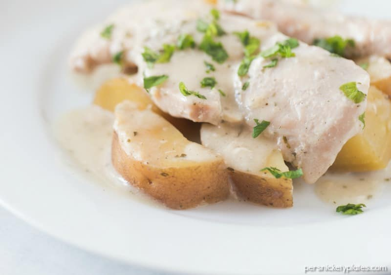 Creamy ranch pork chops with potatoes