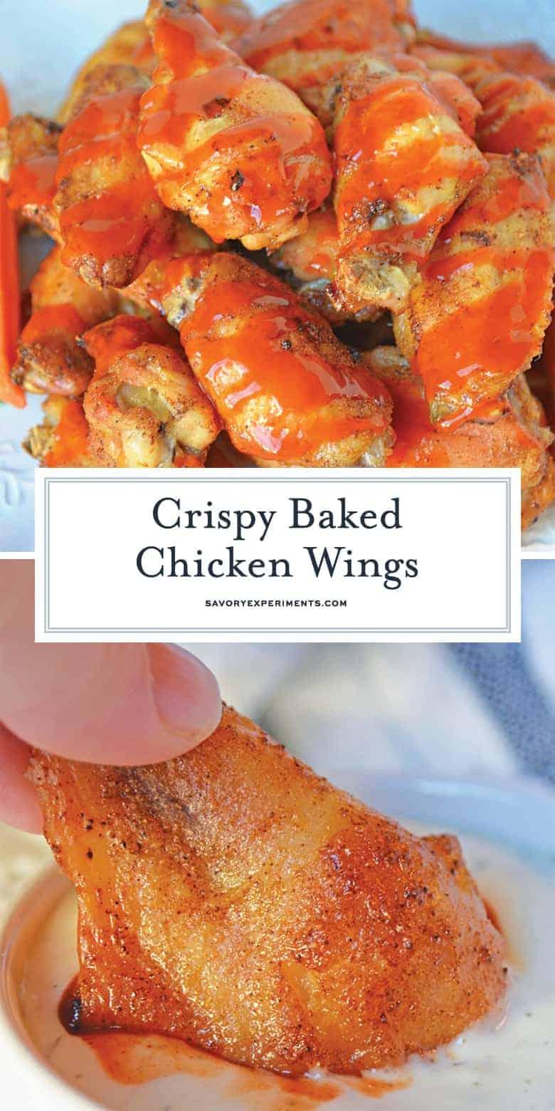 crispy baked wings for pinterest