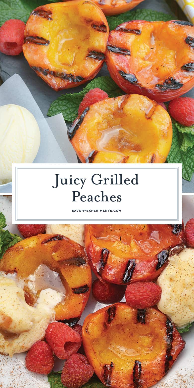 Grilled Peaches for Pinterest