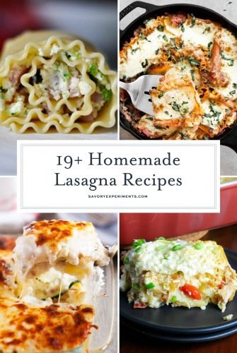 Have you been searching for the best lasagna recipe? You will have a hard time deciding which of these is the best of the homemade lasagna recipes! #recipeforlasagna #bestlasagnarecipe #besthomemadelasagna www.savoryexperiments.com
