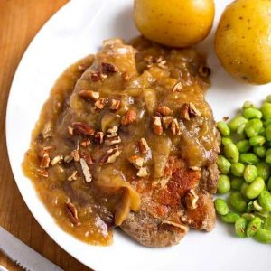 Instant pot pork chops with beans and potatoes