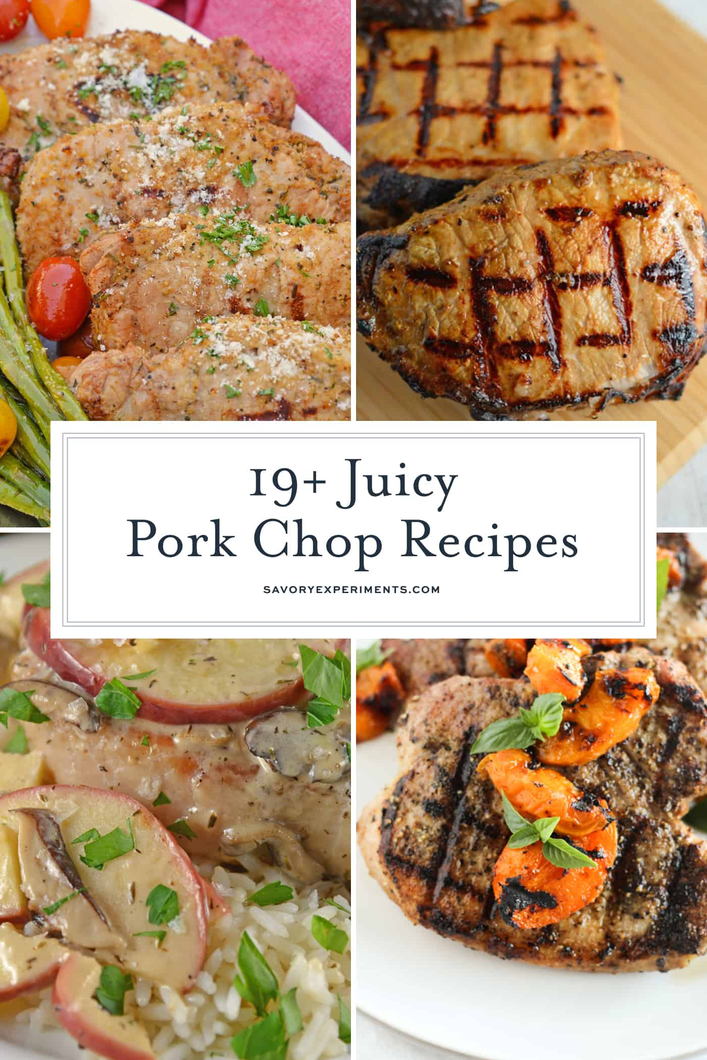 If you're on the hunt for the best pork chop recipe, look no further! This list of great pork chop recipes will be loved by the whole family. #bestporkchoprecipe #greatporkchoprecipes #easyporkchops www.savoryexperiments.com