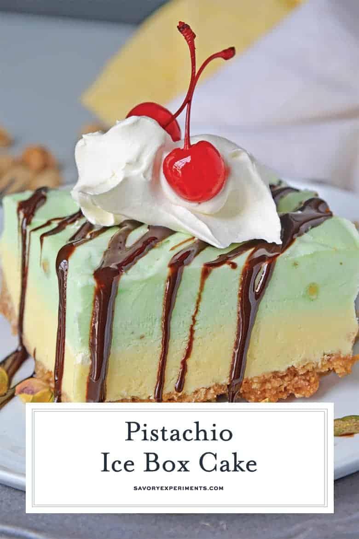 Slice of ice box cake