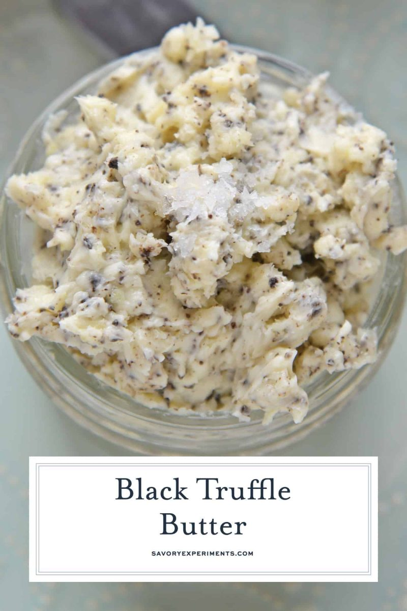 glass bowl of truffle butter