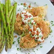 baked bacon ranch chicken with sauce