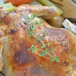 roast chicken using tea