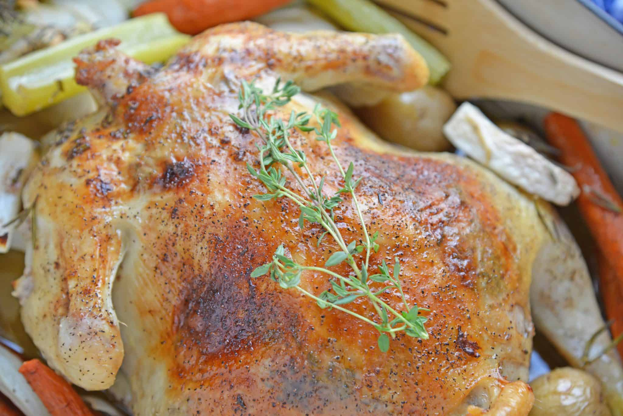 roast chicken using tea