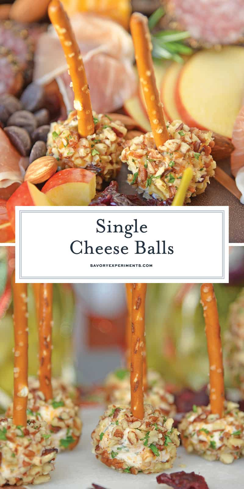 This cheese ball with cream cheese is a classic Party Cheese Ball recipe, made with simple ingredients. A must-make for any and all parties! #partycheeseballrecipe #creamcheeseball www.savoryexperiments.com