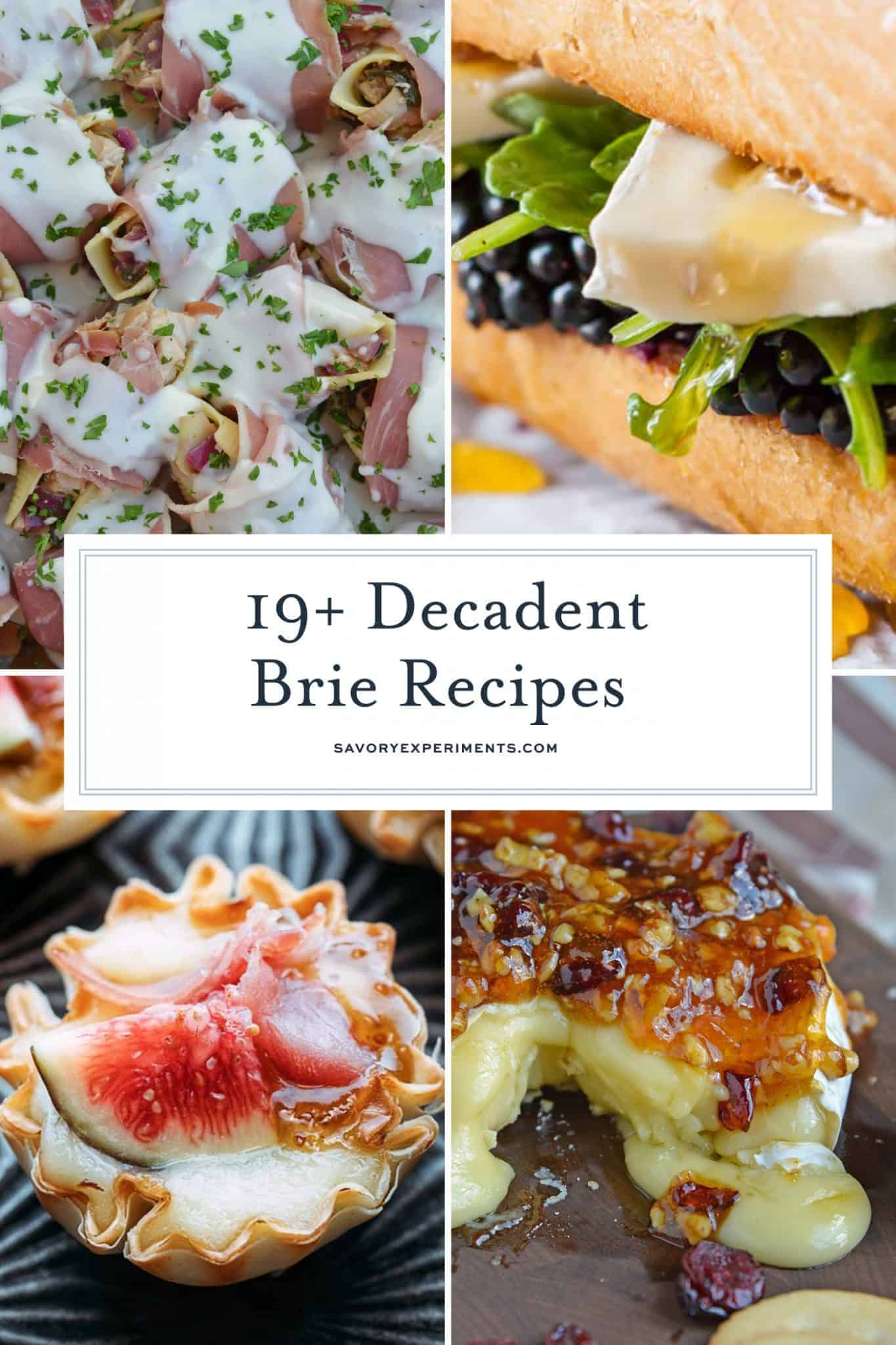 Collage of brie recipes