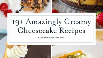 Cheesecake recipes collage