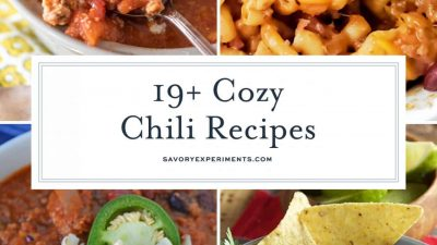 Collage of chili recipes