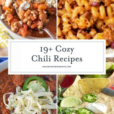 Collage of chili recipes