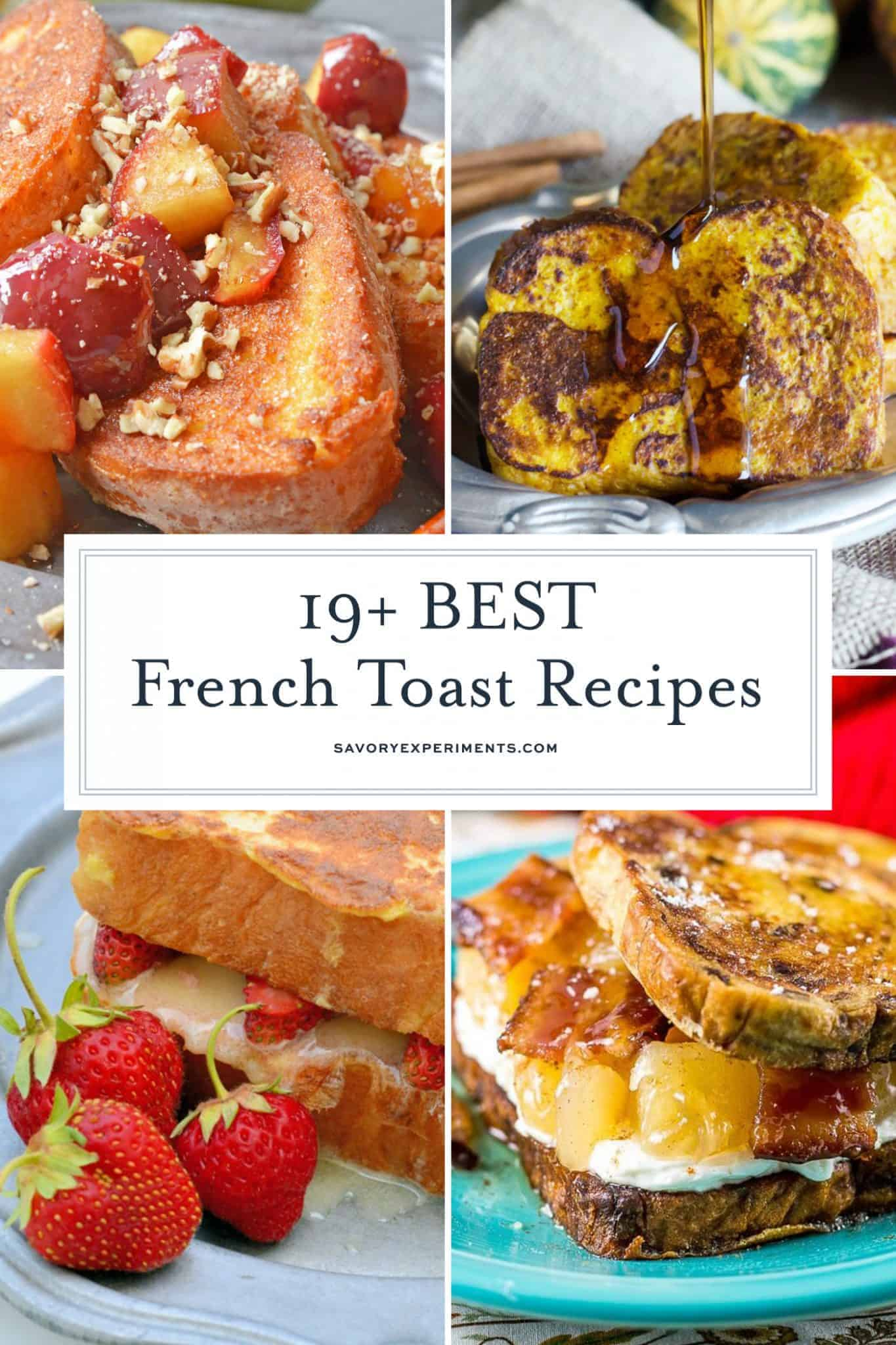 french toast recipes collage