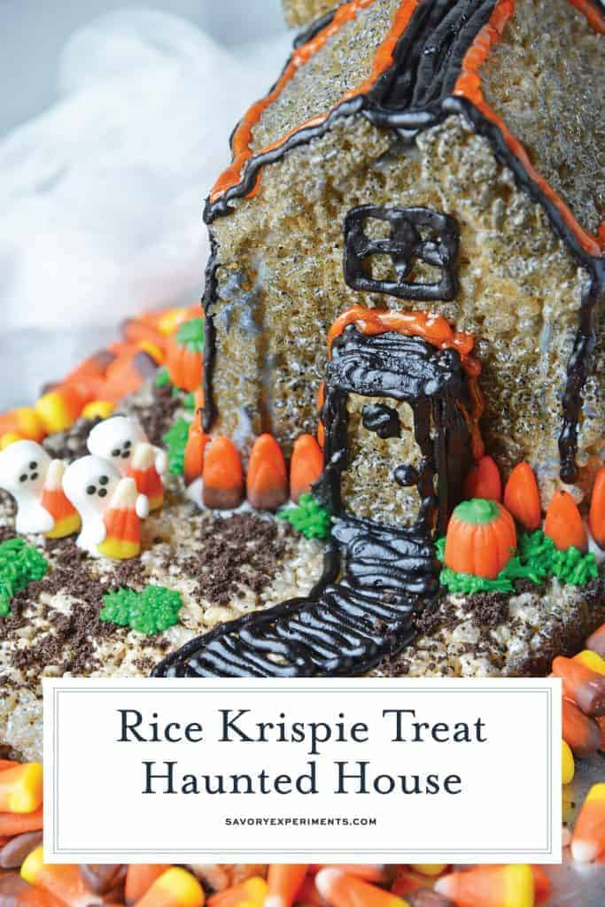 Rice Krispie treat haunted house for pinterest