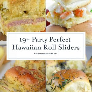 Hawaiian bread sliders collage