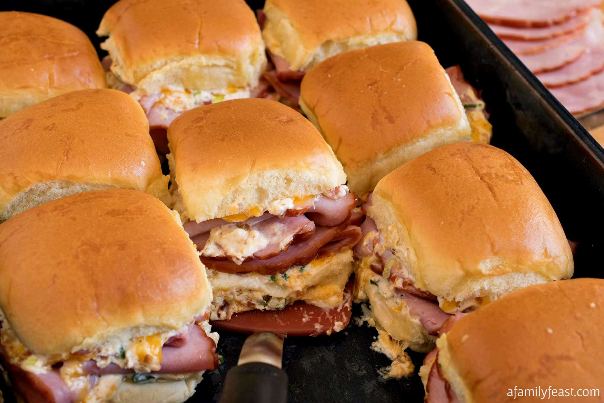 Tray of Mississippi ham sliders