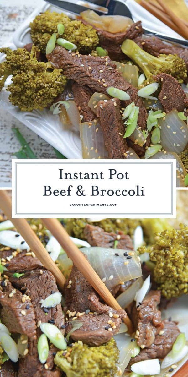 Instant Pot Beef and Broccoli is a quick, easy and healthy alternative to your favorite Chinese takeout dish. Ready in just 30 minutes! #beefandbroccoli #instantpotrecipes www.savoryexperiments.com