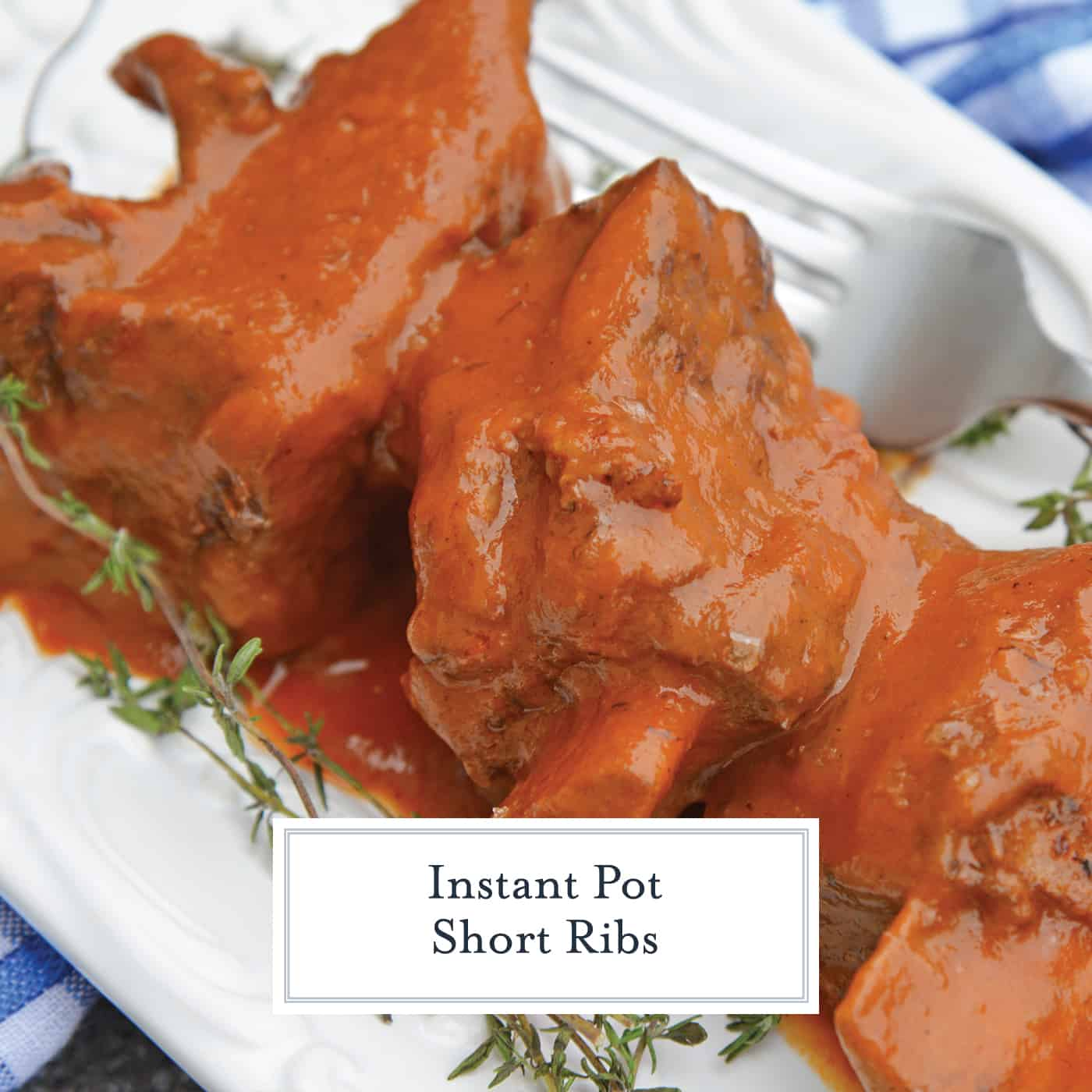 Instant Pot Short Ribs are a fast and flavorful way to make your favorite braised short ribs without all the hard work and hours of cooking. #instantpotshortribs #braisedshortribs #shortribsrecipe www.savoryexperiments.com