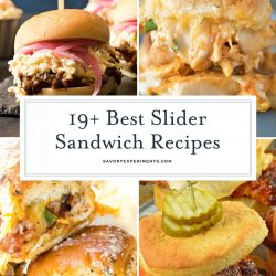 Slider sandwich recipes collage