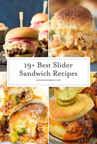 Slider sandwich recipes collage
