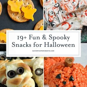 Snacks for Halloween Collage for Pinterest