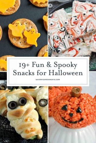 Snacks for Halloween Collage for Pinterest