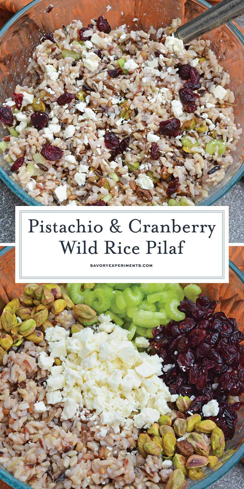 This Wild Rice Pilaf recipe is an easy side dish for your next potluck, picnic or dinner. Quick and easy to make in advance it's the best rice pilaf recipe! #wildricepilaf #ricepilafrecipe www.savoryexperiments.com