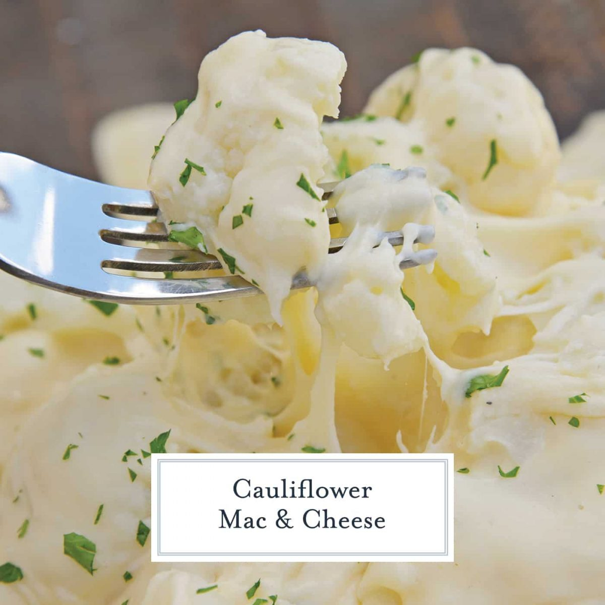 Cauliflower Mac and Cheese is an easy-to-make low carb mac and cheese that follows keto guidelines. A kid-friendly cauliflower side dish! #cauliflowermacandcheese #ketomacandcheese #lowcarbsidedishes www.savoryexperiments.com