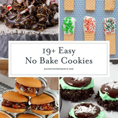 no bake cookies collage