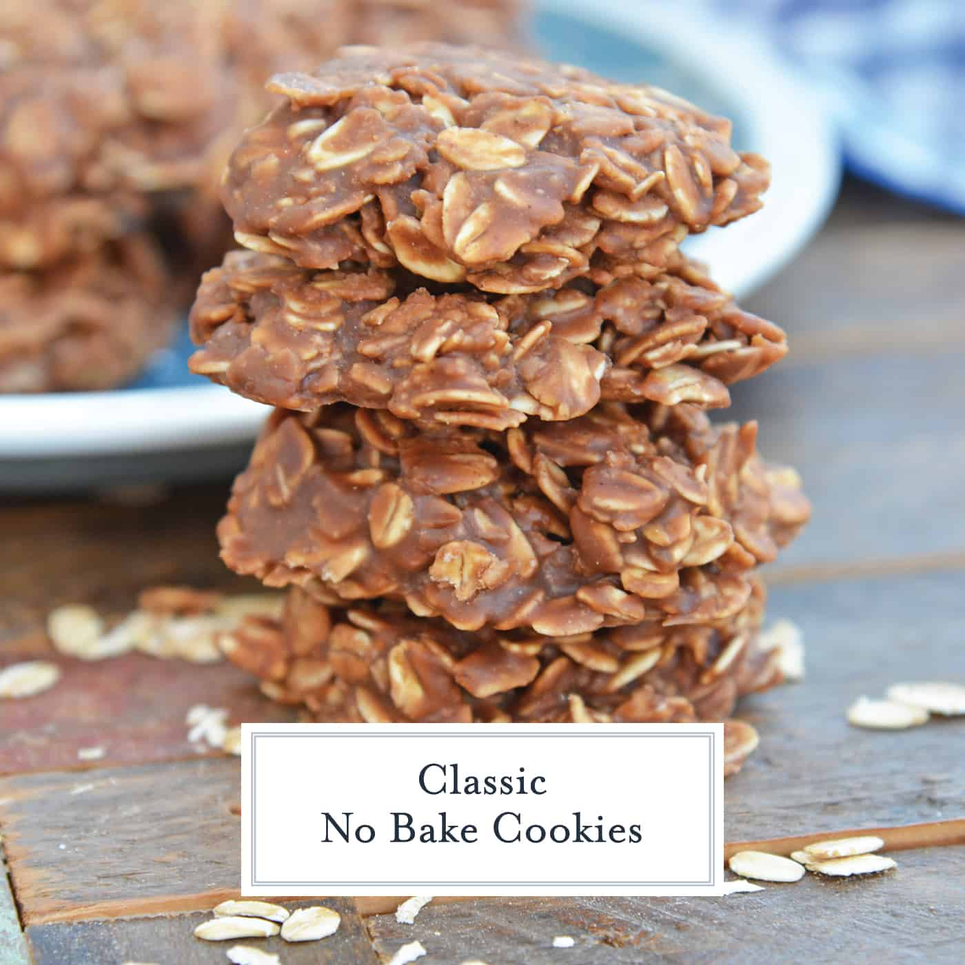 If you've always thought oatmeal no bake cookies were difficult, this classic no bake cookie recipe will change your mind. With these tips, you'll end up with the perfect peanut butter no bake cookies every time! #oatmealnobakecookies #classicnobakecookies www.savoryexperiments.com