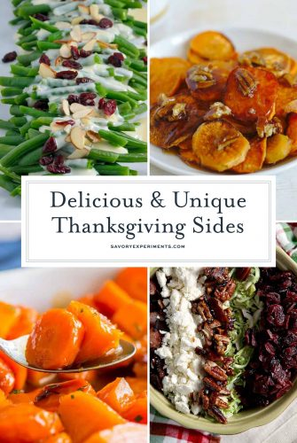 Thanksgiving sides collage
