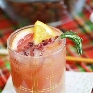 holiday punch mocktail
