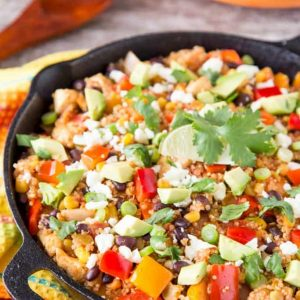 Mexican skillet dinner in a skillet - skillet meals