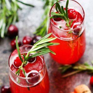 cranberry ginger bellinis