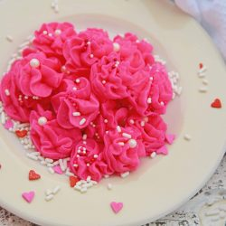 Valentine's Day Cream Cheese Candy is an easy no-bake dessert perfect for every Valentine's Day party!#creamcheesecandy #merrimints #valentinesday www.savoryexperiments.com
