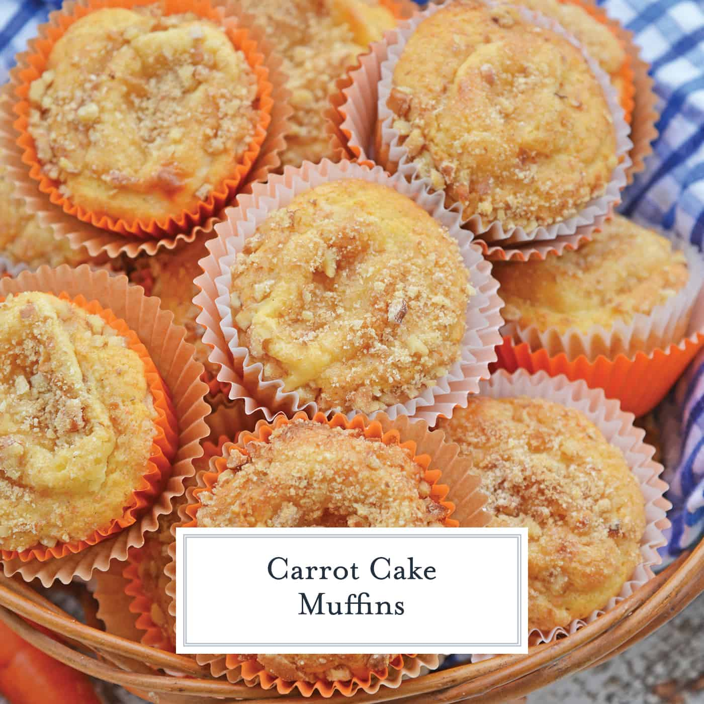 Carrot Cake Muffins are muffins loaded with carrots and stuffed with cream cheese frosting. Perfect for breakfast, brunch or a snack. Also freezer-friendly!  #carrotcakemuffins www.savoryexperiments.com