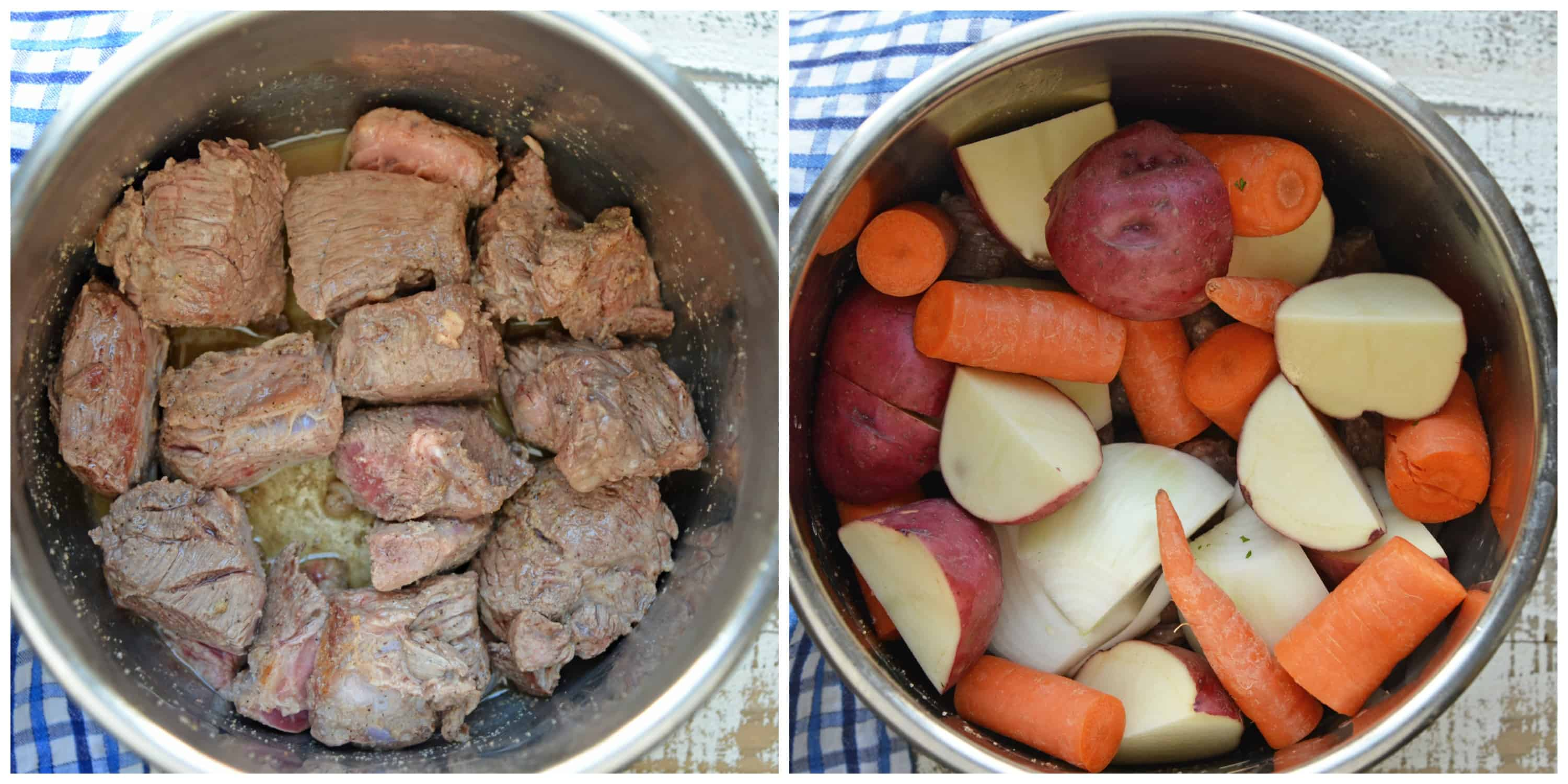 Meat and Vegetables in Pressure Cooker