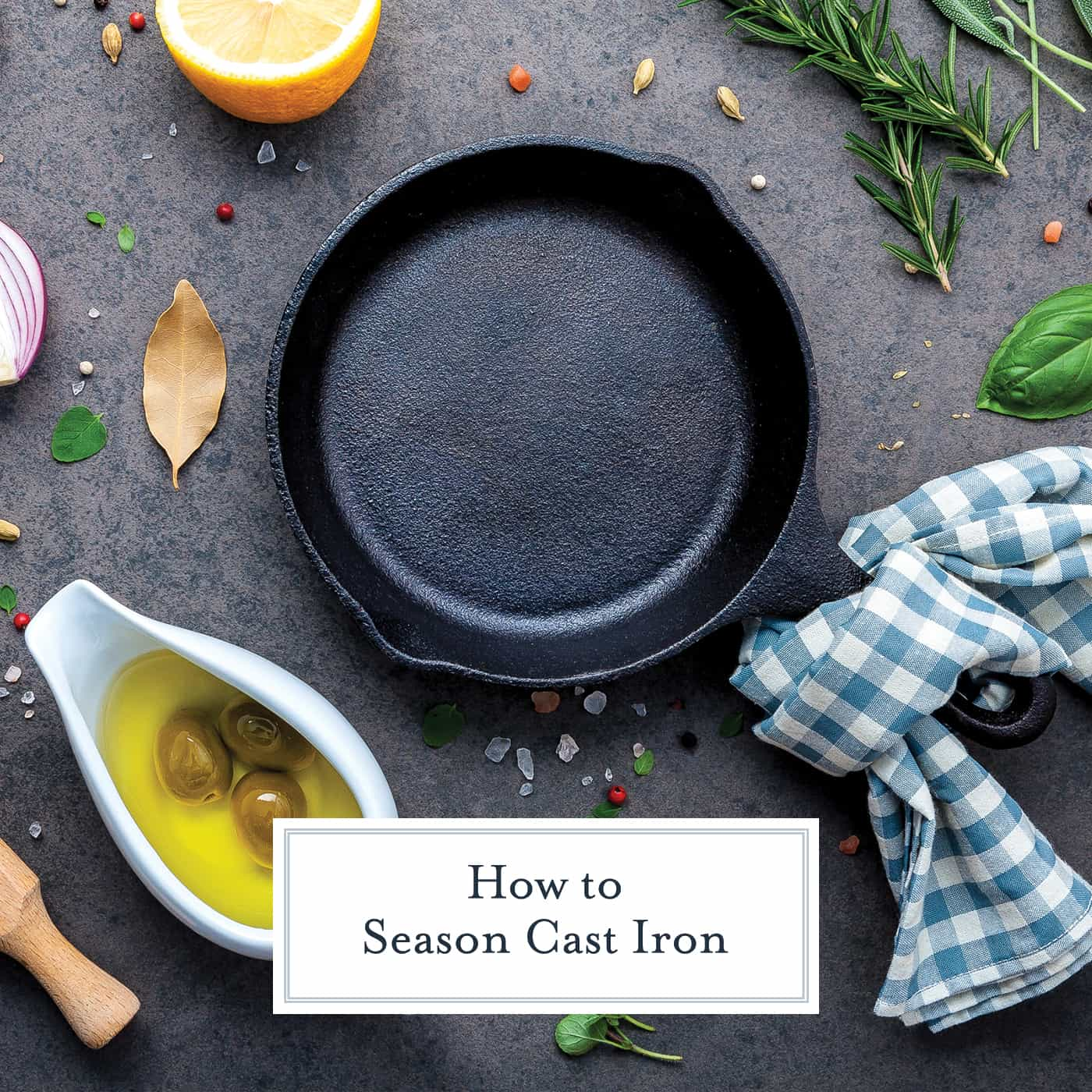 An easy guide on how to season a cast iron skillet, Dutch oven, or griddle and all your questions about how to care for cast iron answered in one spot. #howtoseasoncastiron #castironcare www.savoryexperiments.com