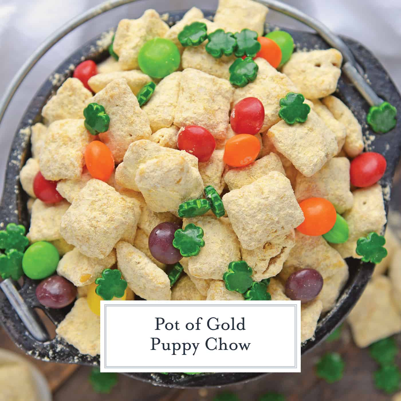 Bowl of St. Patrick's Day Puppy Chow
